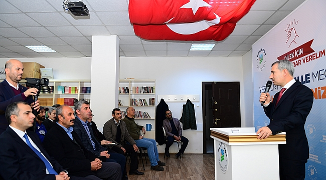 'MAHALLE MECLİSLERİ' PROJESİ ŞAHNAHAN'DAN SONRA DİLEK MAHALLESİNDE DE BAŞLADI