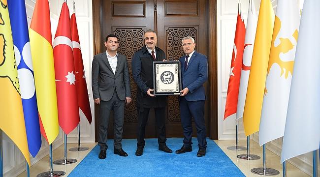 BEKİR DEVELİ KONFERANS ÖNCESİ BAŞKAN GÜDER'İ ZİYARET ETTİ