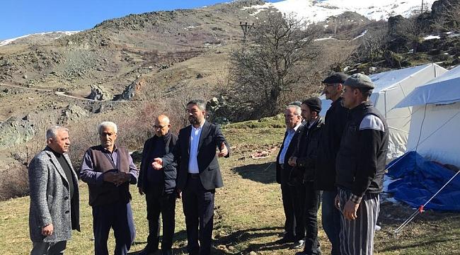 CHP İl Yönetimi Deprem Bölgesinde