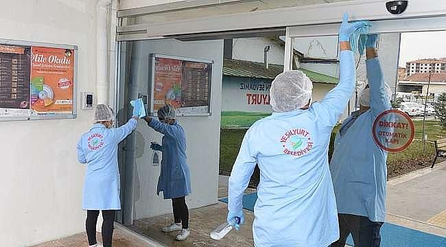 Yeşilyurt Belediyesi'nde Dezenfekte Çalışmaları Yoğunlaştı