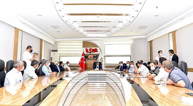 Kuzey Kuşak Yolu güzergâhı hak sahipleriyle bir araya gelen Başkan Gürkan,