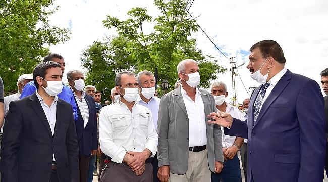 Başkan Gürkan Şahnahan Mahallesinde incelemelerde bulundu