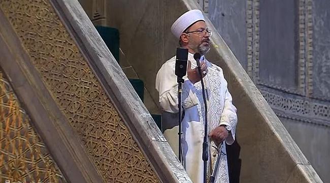 Ayasofya Camii 86 yıl aradan sonra kılınan Cuma namazıyla ibadete açıldı