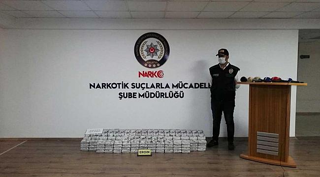 Malatya'da bir kamyonda 195 kilogram eroin ele geçirildi