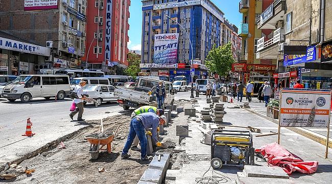 Turgut Temelli Caddesi alt kavşağında düzenleme çalışmaları yapılıyor