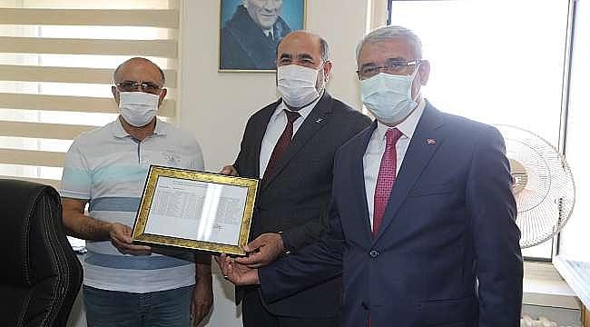 Güder, Basri Kahveci'nin Mazbata Törenine Katıldı