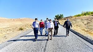 Yeşilyurt Belediye Başkanı Çınar Mollakasım  ve Gedik'te ki Ulaşım  Yatırımlarını  İnceledi