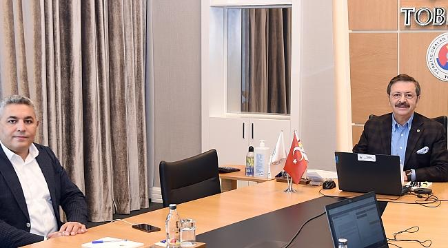 Başkan Sadıkoğlu, iş dünyasının sorun ve taleplerini Hisarcıklıoğlu'na iletti