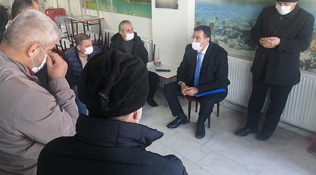 Akp Milletvekili  Tüfenkci'den taksici esnafına ziyaret