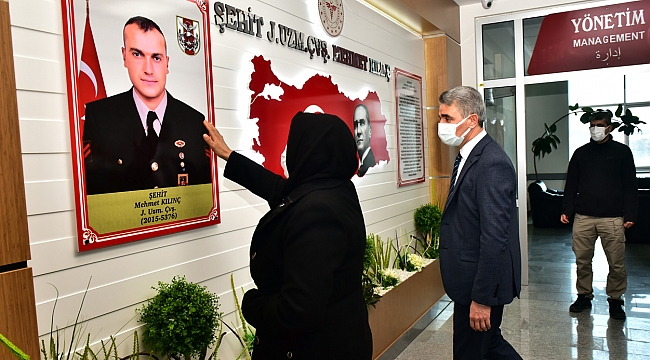 Vali Baruş Şehit Mehmet Kılınç'ın Ailesi ile Ağız ve Diş Sağlığı Hastanesinde İncelemelerde Bulundu