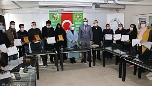 Malatya'da kursu başarıyla tamamlayanlara sertifika verildi