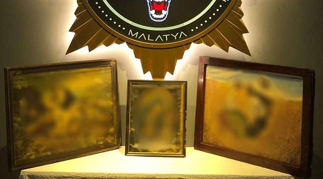 Malatya'da tarihi eser niteliği taşıyan 3 tablo ele geçirildi
