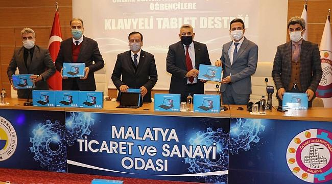 Malatya Ticaret ve Sanayi Odası uzaktan eğitime tablet desteğinde bulundu