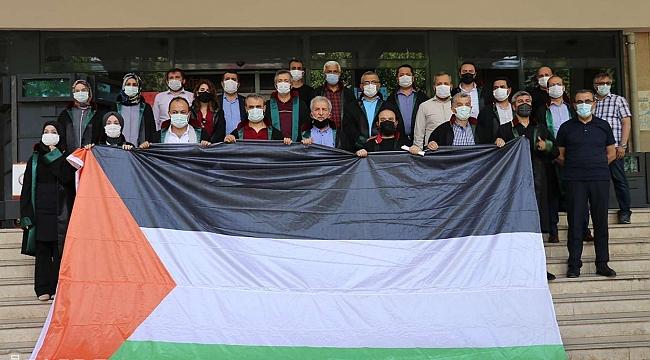 Malatya'daki hukukçulardan işgal rejimine lanet mazlum Filistin'e destek