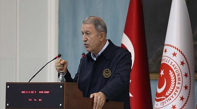 Bakan Akar: PKK ve YPG arasında hiçbir fark yok
