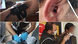 Ehliyet sınavında kamera ve böcekle kopya girişimi: 24 gözaltı